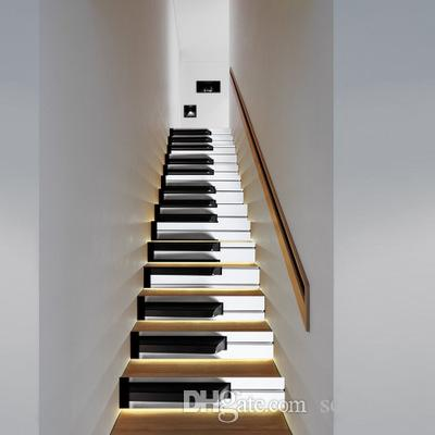 Creative Piano keyboard simulation stairs wall sticker for living bed room stickers for kids home decoration