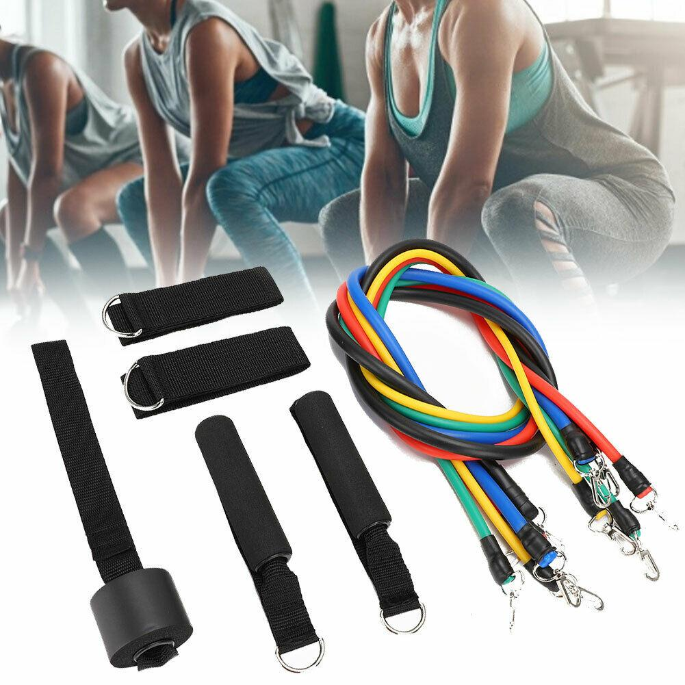 11pcs//set Pull Rope Fitness Exercise Resistance Bands Training Workout Yoga