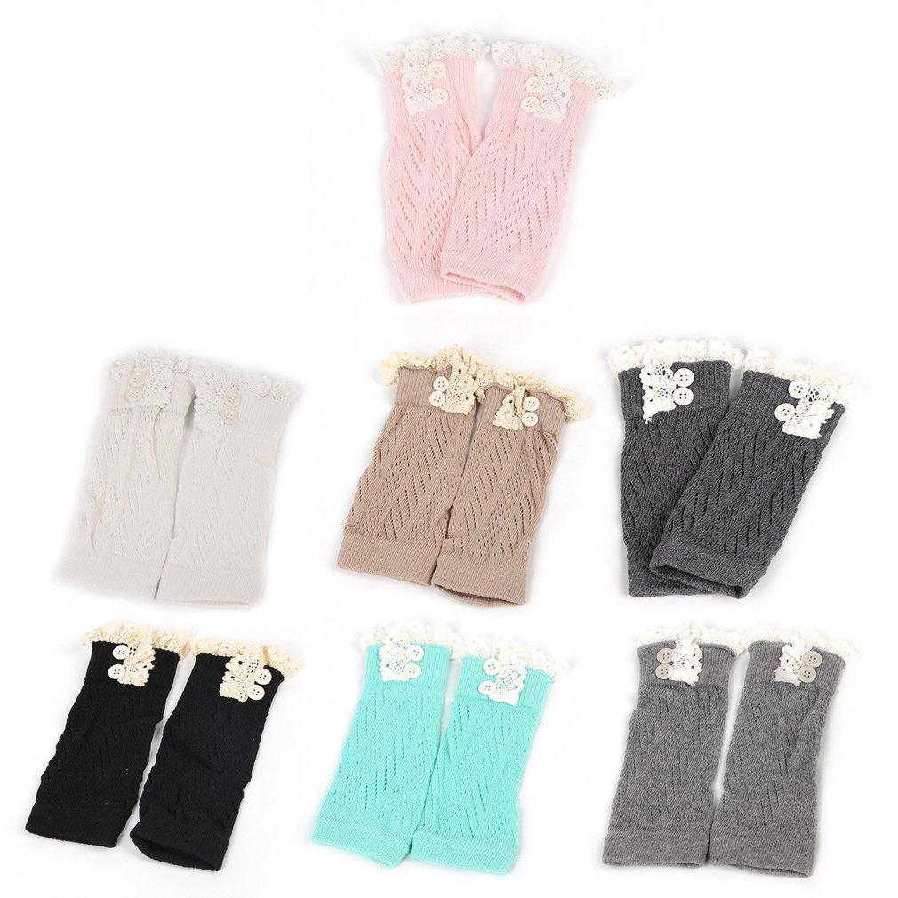 European American Fashion Comfortable Kids Baby Girl Crochet Knitted Lace Boot Cuffs Toppers Leg Warmer Socks Baby Leg Warmers