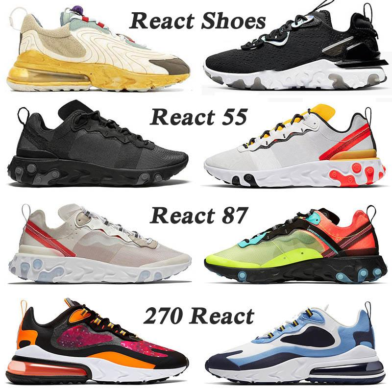 2020 new React running shoes Vision D-MS-X Undercover Element 87 55 ENG Travis Scott Cactus Trails New EPIC Reacts Sports Sneakers Traienrs