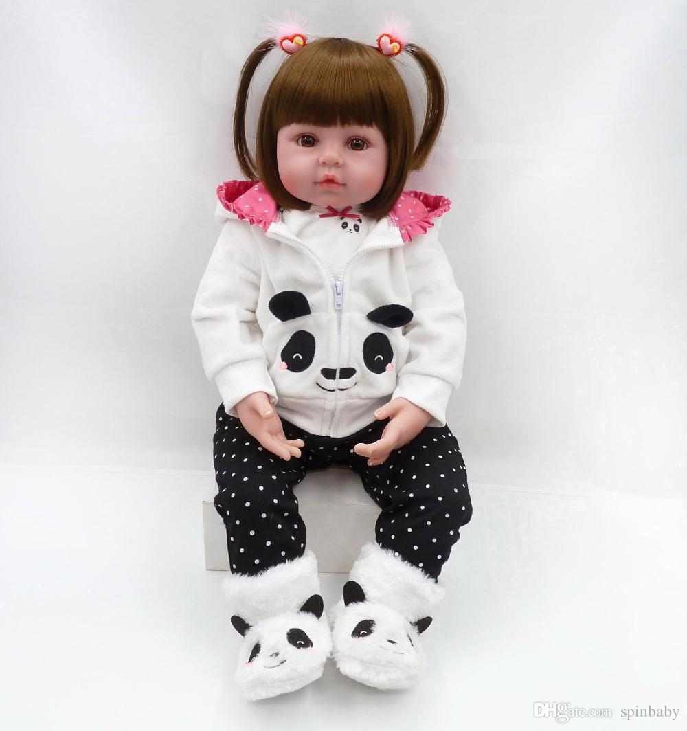 48cm poupées reborn jouets bébé poupées bébé reborn vinyle silicone souple fille bebes renaissent BonecaS jouets maison jeux enfants plamates