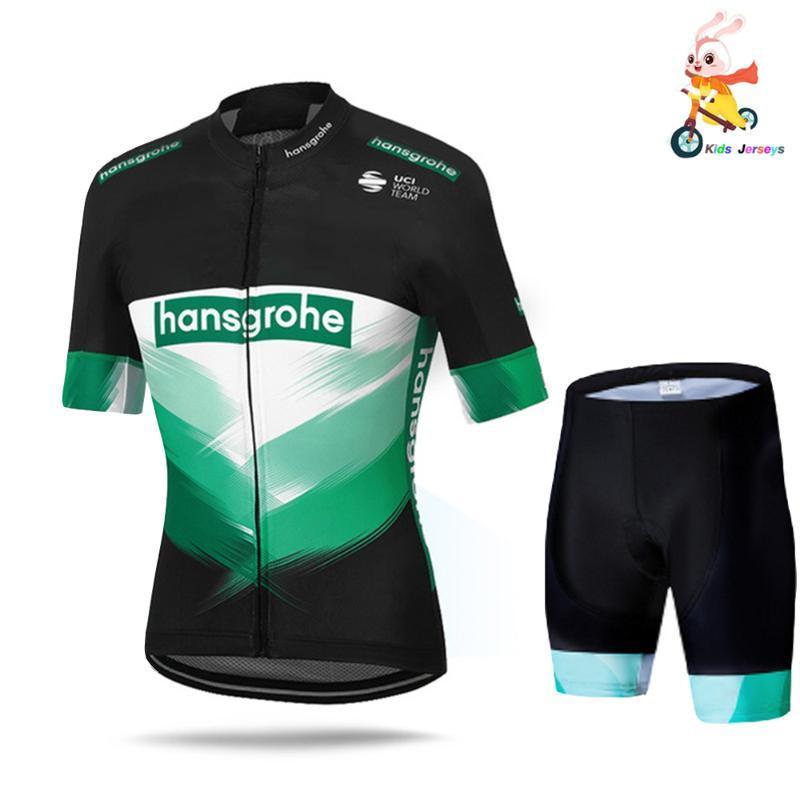 Enfants Cyclisme Jersey Set 2020 Boraing Hansgrohe Respirant été Enfants Vélo Vêtements pour garçons Outdoor Vêtements de sport Vélo Uniforme