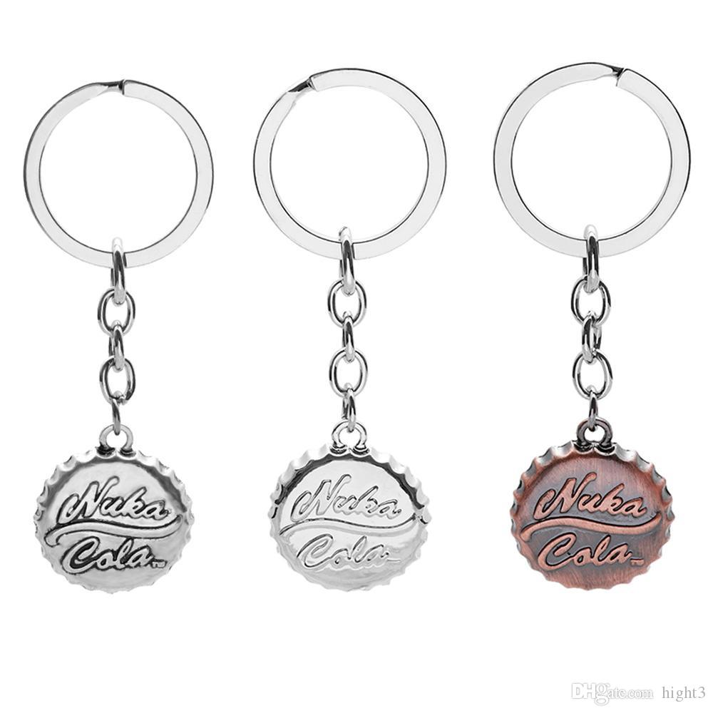 1Pcs Hot Cool Game Fallout 4 Beer Cap Shape Pendant Keychain Fashion Car Key Ring Key Holder for Fans Gift