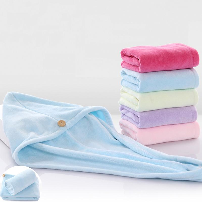 High Quality 3 Pieces 25*65cm Solid Color Women Bathroom Absorbent Quick-drying Microfiber Bath Towel Hair Hooded Towel Hot Sale