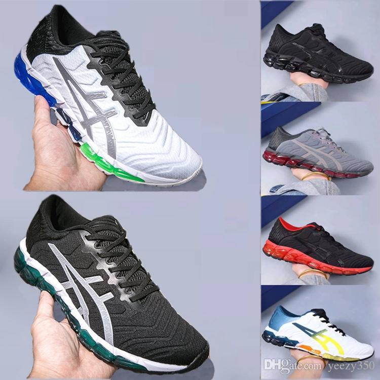 asics مع صندوق GEL-الكم 360 5 الرجال الشباب الجديد الجري توسيد أحذية أبيض أسود أحمر بيدمونت GRAY الطلاب احذية