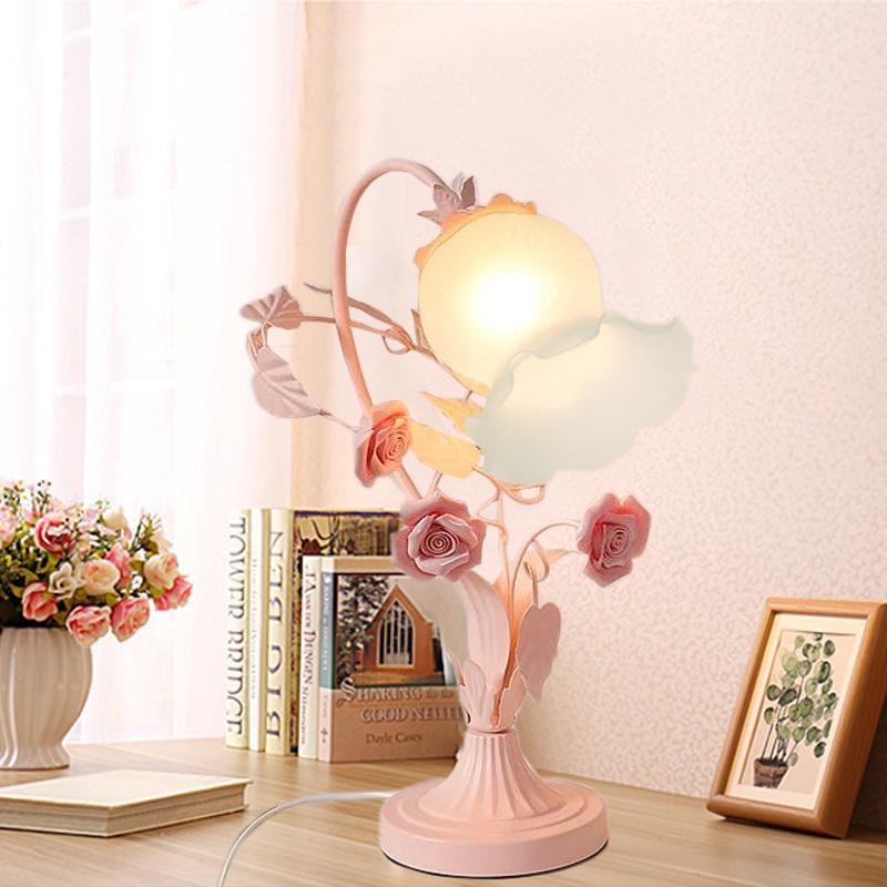 غرفة الأطفال السيراميك الحديثة جدول زهرة مصباح الديكور ديكورا LED AC الورود السيراميك ضوء فيلا غرفة نوم ومناسبات الزفاف LED مصباح الجدول
