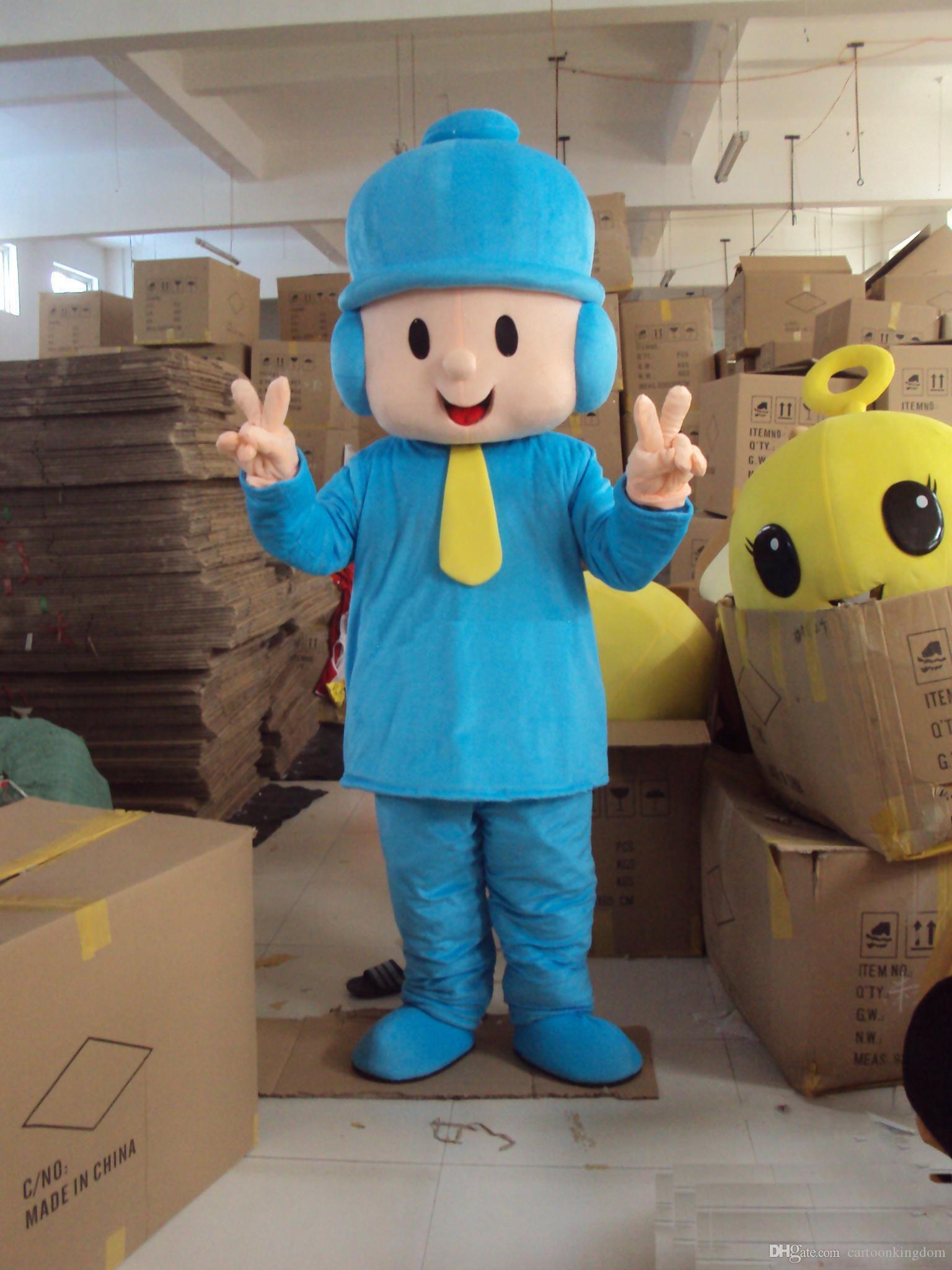 2018 высокое качество взрослый размер костюм персонажа из мультфильма Покойо мальчик талисмана костюмы