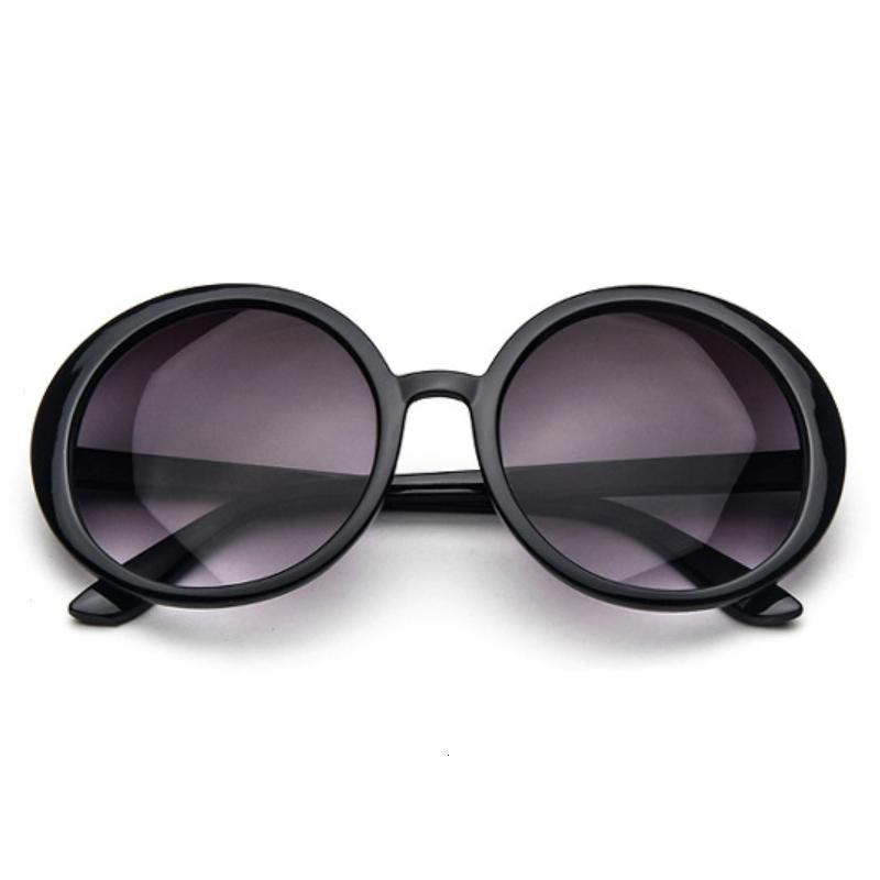 Круглые солнцезащитные очки Женщины Марка Дизайнер Роскошные Пластиковые ВС очки Женский Классический ретро Черный óculos De Sol Gafas