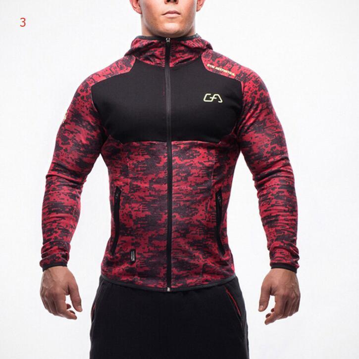 Commercio all'ingrosso del progettista dei Hoodies del Mens Gym Bodybuilding Camicie Sweashirts sport con lettere di modo di marca Giacche Uomo Top 7 Stili disponibili