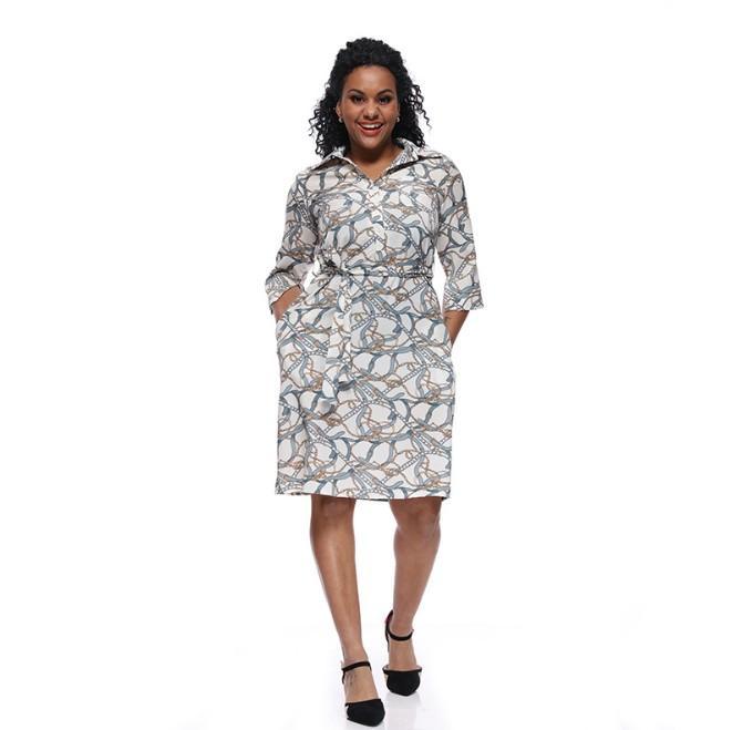 2019 designer de vestido das mulheres Verão Tamanho Grande Hot Sale europeu e americano Estilo mangas meia Asiático Tamanho S-XL atacado