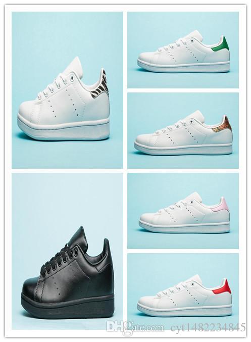 banda classica 2019 Stan marca uomini donne fucsia Navy Zebra verde oro bianco scarpe firmate fabbro delle scarpe da tennis casuali del cuoio appartamenti sportivi