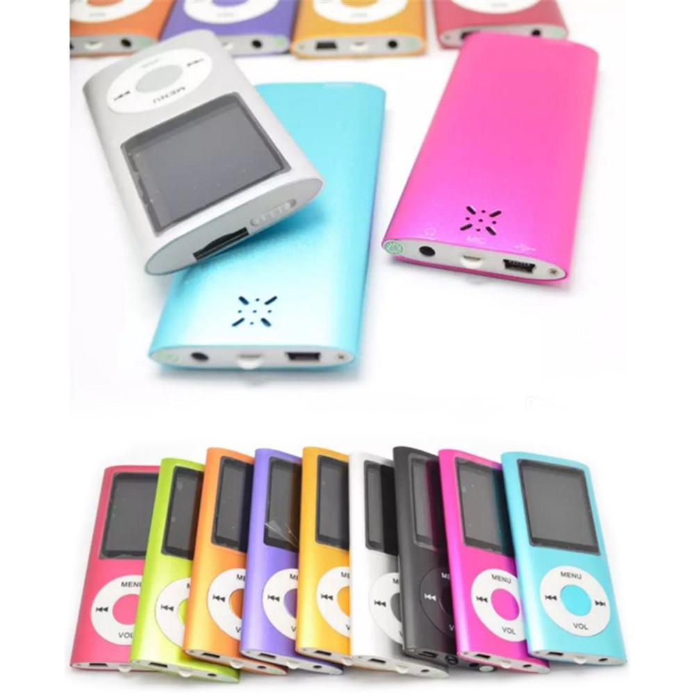 50X Spieler dünne 4TH 1.8 Zoll Schirm 4. mp3 mp4-Player mit Kartenschlitz FM-Radio Voice Recorder 9 Farben USB-Kabel + Kopfhörer + Kleinkästen DHL