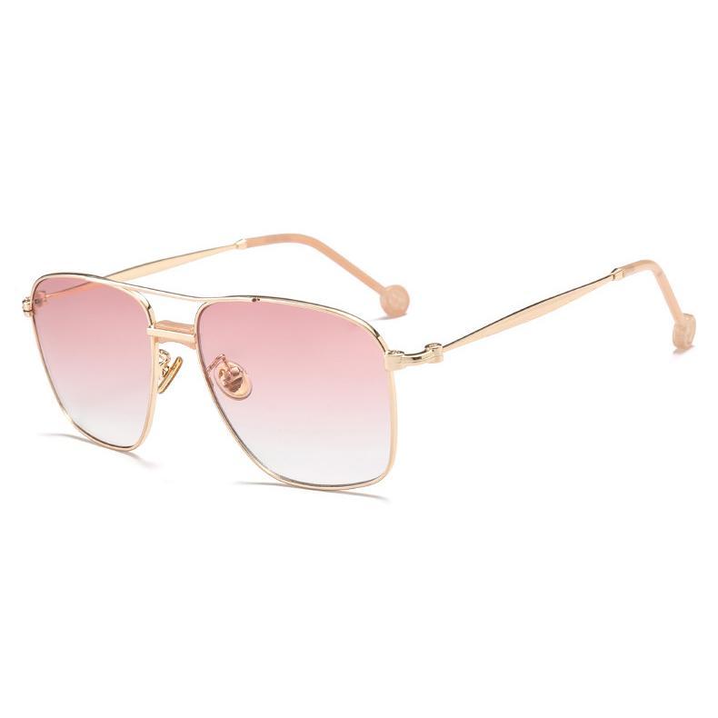 Gafas de sol al por mayor-Mujeres Cuadrado Gafas de sol para hombre del diseñador de la marca de lujo Glaale Gafas de Sombras 17038