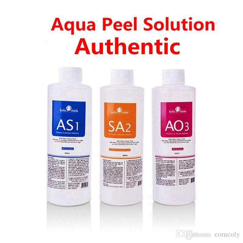 Microdermabrasion AS1 SA2 AO3 AQUA حل تقشير 400 ملليلتر لكل زجاجة هيدرو الوجه مصل البشرة العادية لآلة هيدروكاس