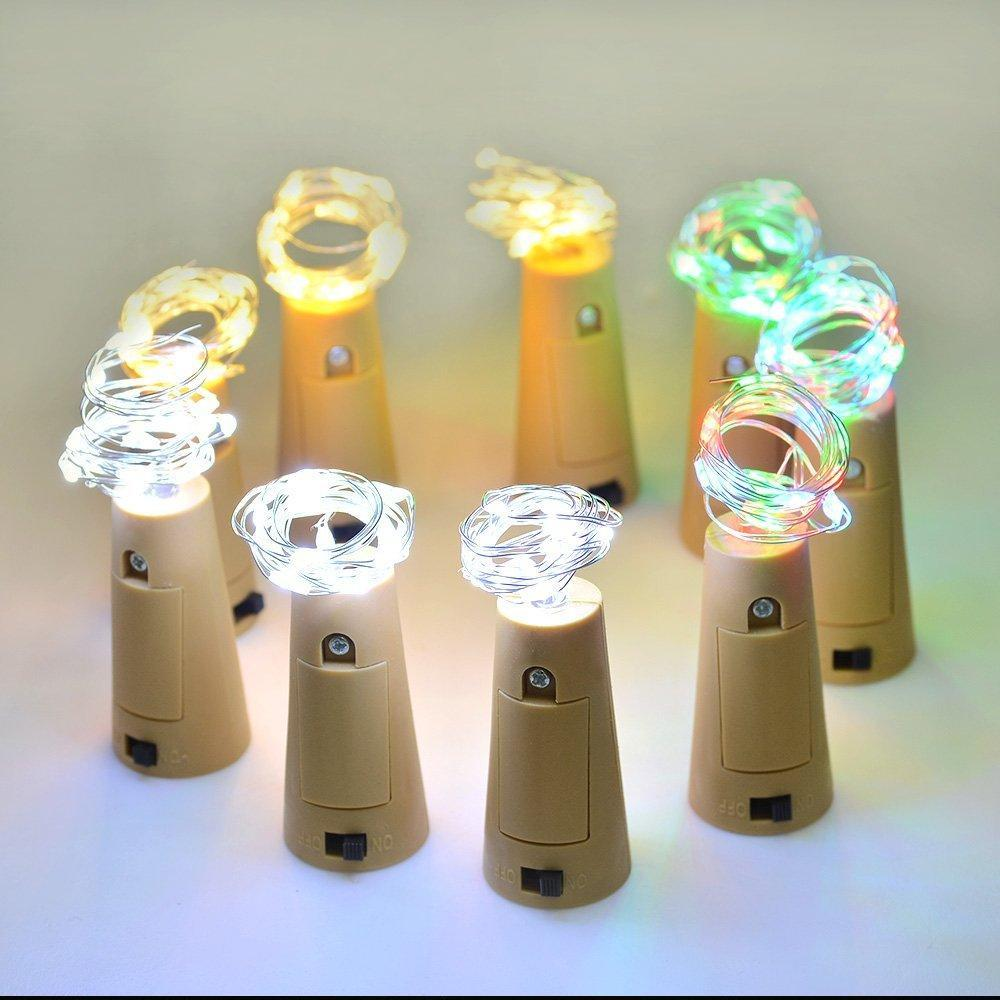 Bottle Mini String Lighting Copper Wire bar light Starry Light DIY Christmas Wedding and Party Halloween warm white white yellow green red