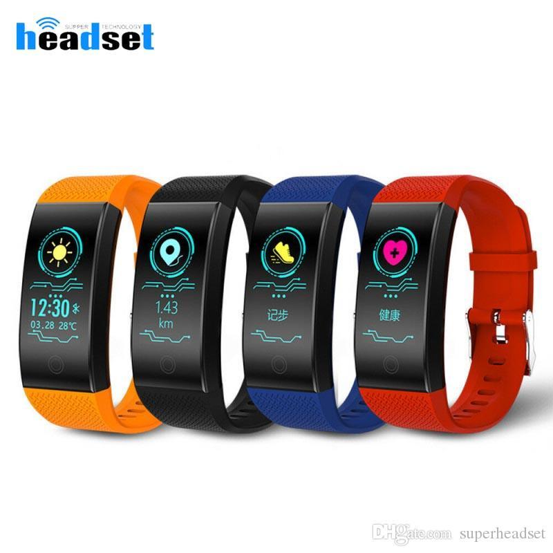 QW18 Smart Watch Спорт смешанные цвета браслет сердечного ритма шагомер IP68 Водонепроницаемый наручные часы лучший бренд фитнес smartwatch