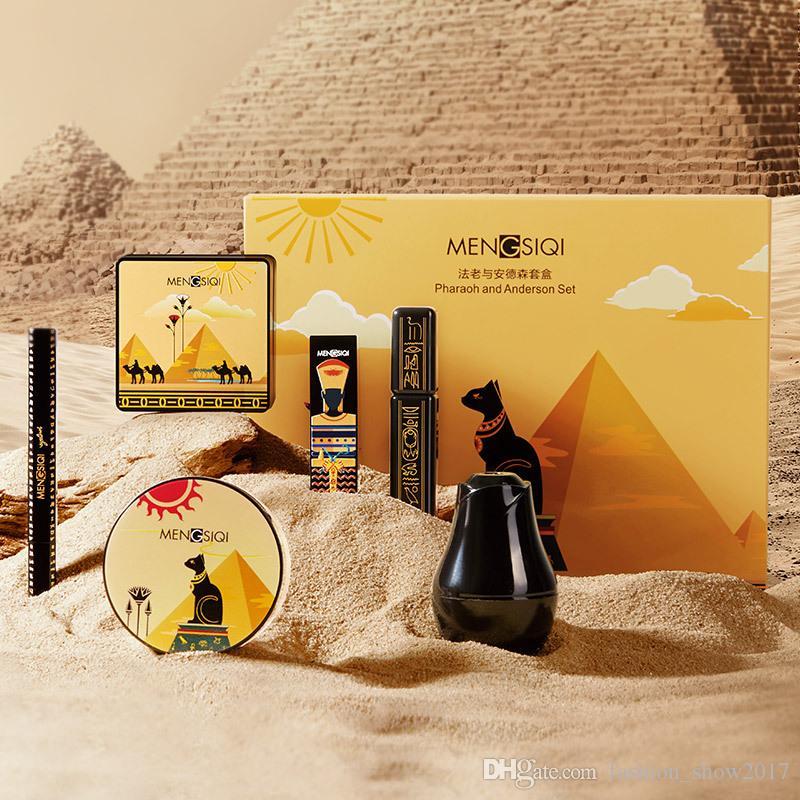 Faraone e Anderson Cosmetic Kit funghi Air Cushion fondamento liquido polvere Eyeliner Mascara Rossetto Insieme di trucco