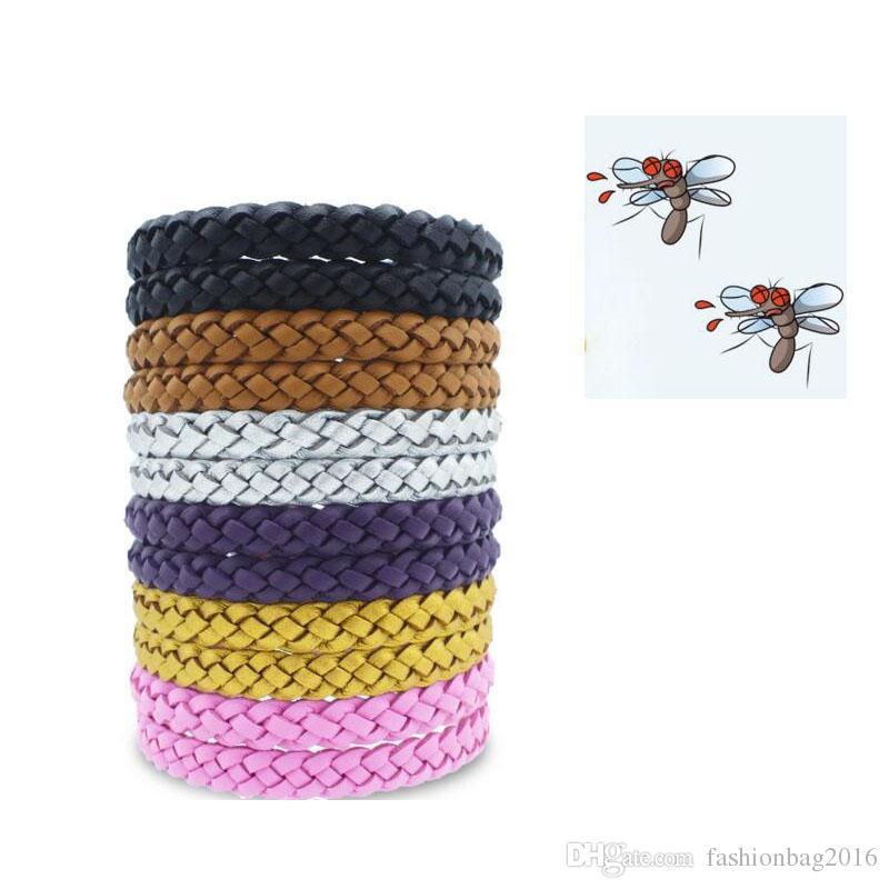 Новый кожаный комаров браслет против комаров браслет против комаров браслет