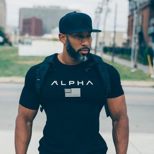 Neue Top-Sommer-Fitness-T-Shirt der Männer beiläufige Art und Weise Hemd Bodybuilding-T-Shirt Turnhallen-Kleidung T mit plus Größe M-XXXL
