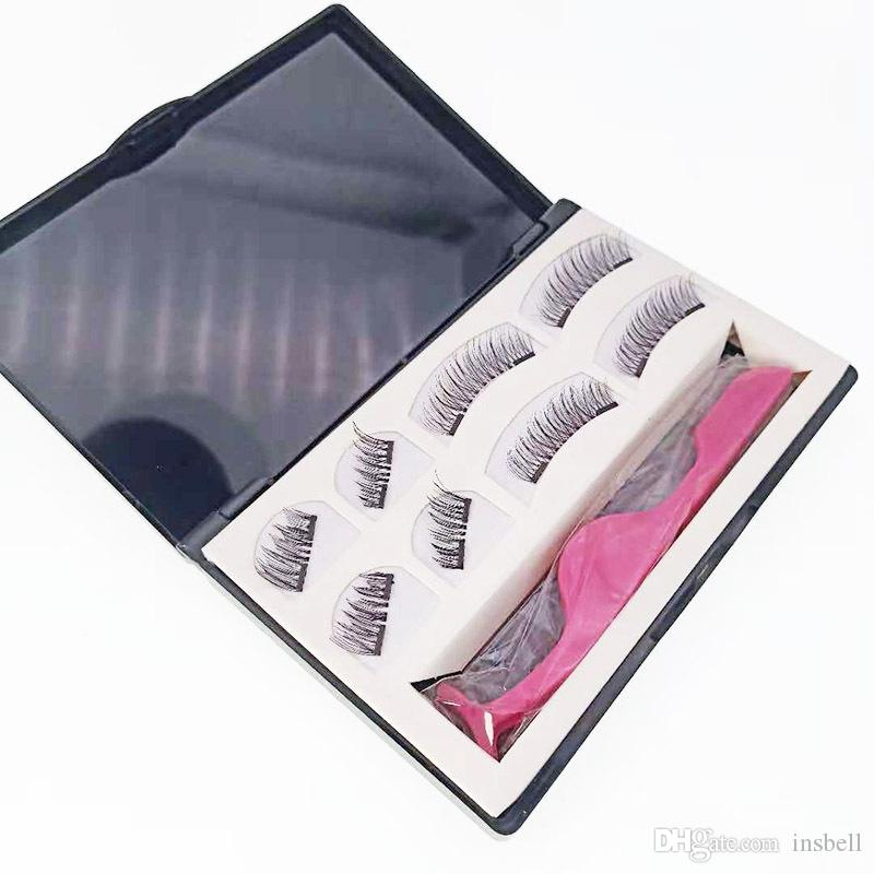 Extension de cils magnétiques Faux cils naturels sur aimants Réutilisable 3D faux cils magnétiques maquillage doux facile à porter