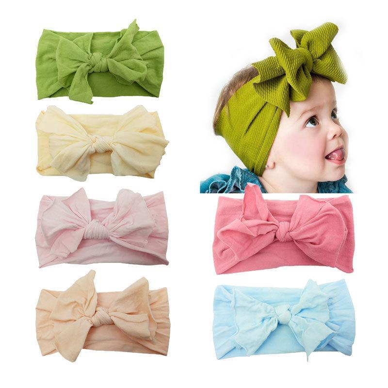 Big Bow Turban Adjustable Baby Headband Top Knot Wide Child Girls Hair Accessories Kids Elastic Multi Colors 2 55mc D1