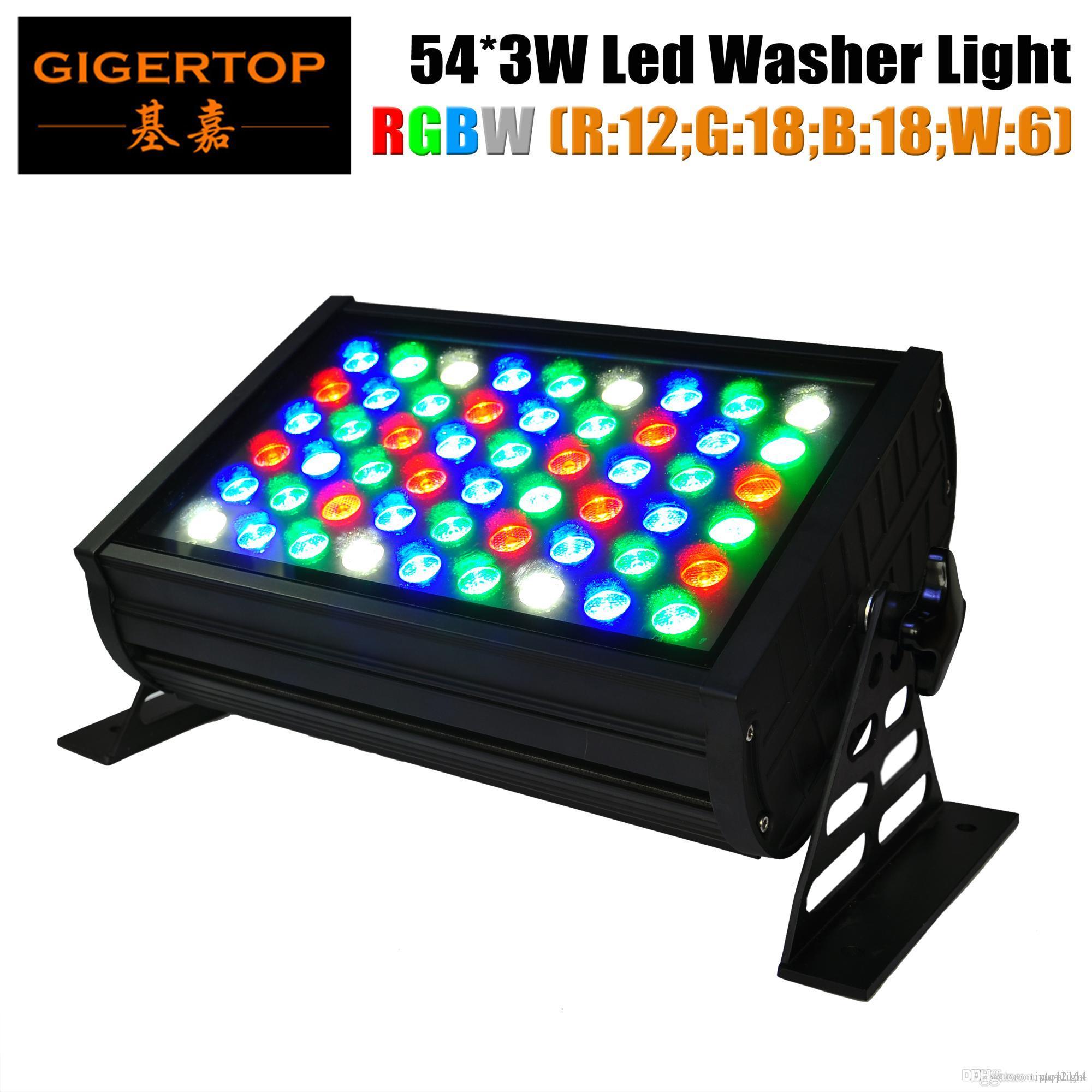 gigertop Professional UL LED IP65 Wall Washer 54X3W Paisagismo Iluminação DMX512 RGBW para Fundo de estágio 110V-240V