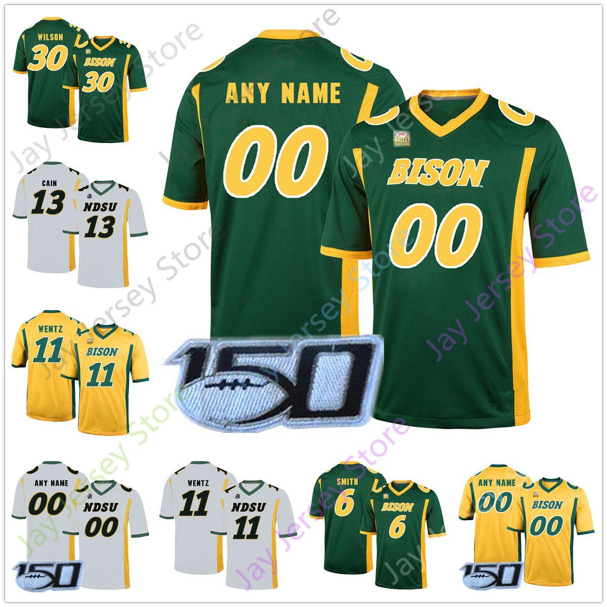 Custom NDSU Football Jerseys North Dakota State Bison Jersey Home Away Any name Number