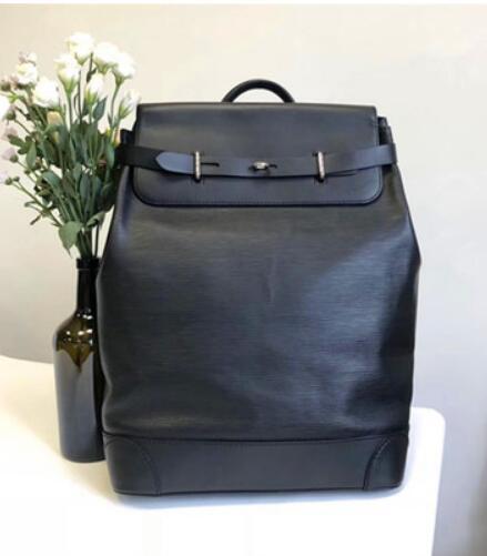Steamer Zaino 100% pelle della tela di canapa zaino di marca del progettista Zaini per Bag Uomini Uomini grande formato sacchetto di scuola dello zaino di modo di marca M44052
