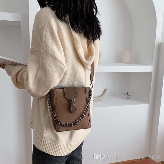 Корейская версия наклонного ведра мешок модно одного плеча цепи мешка 01