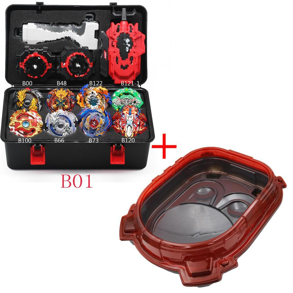Top Beyblade Burst B155 Bey Blade Toy Metal Funsion Bayblade Set Storage Box With Handle Launcher Plastic Box Toys For Children