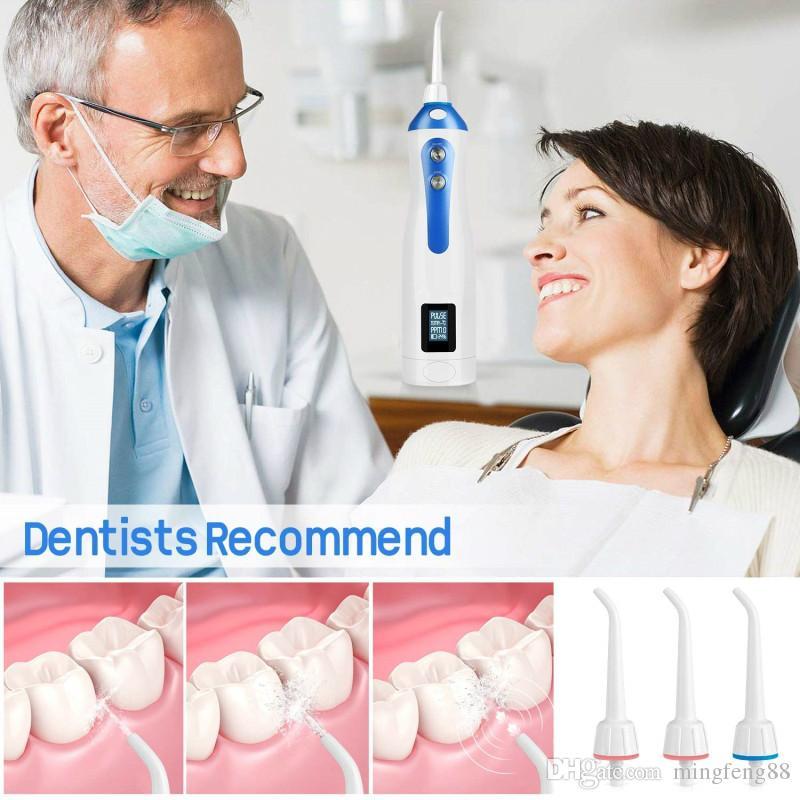 Flosser dentaire imperméable à l'eau portatif IPX7 et impulsion à trois vitesses orale d'irrigator pour des soins dentaires / santé bucco-dentaire avec la station de charge sans fil /