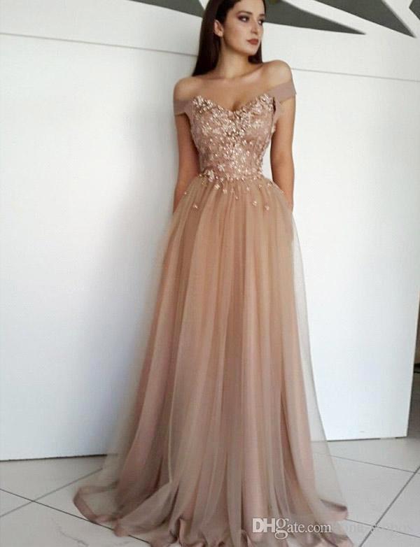 2019 Off Shoulder Prom Dress Elegent