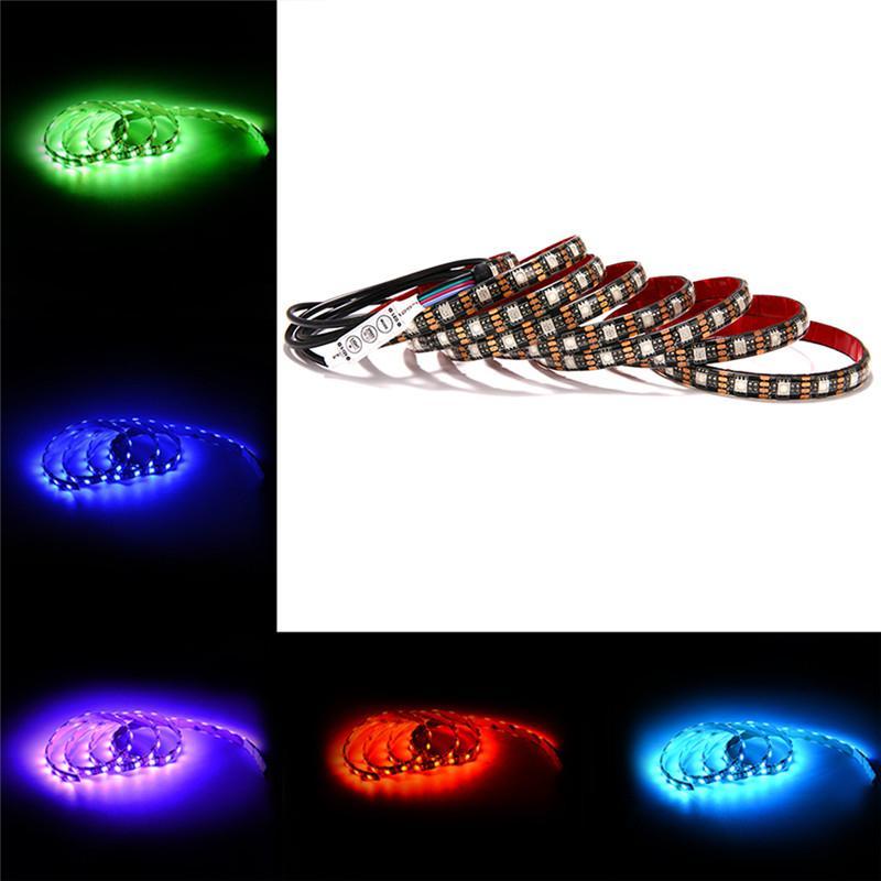 Bande LED à lumière SMD 3528 noir PCB RGB Kit de couleurs changeantes pour écran plat HDTV Moniteur PC de bureau 5M 300LEDs