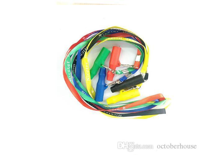Bocca silicone di corda di caduta cinghia narghilé Bocchini Shisha Arcobaleno Tip Pipe Shisha Narguile Tubo Accessori 5 colori scegliere