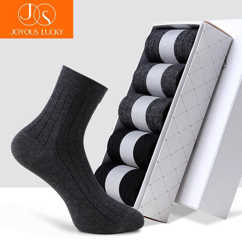 Algod/ón Rico Calcetines de Traje Lujo Durables y Transpirables Diarios DEBAIJIA 5 Pares Calcetines de Negocio Crew Dress Socks Para Hombre