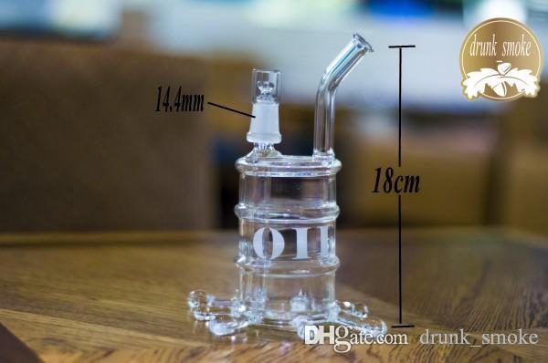 Bechergrundwasserrohre heißes Verkaufsglas Glasbongs Eis Fängerdicke für das Rauchen