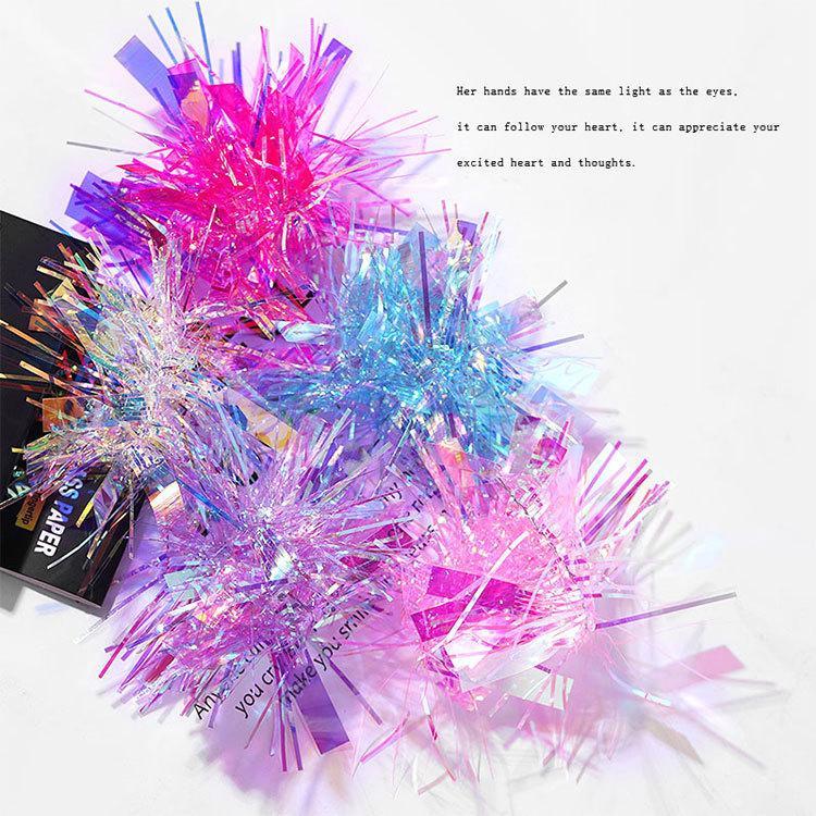 HugMee Nail arte DIY del chiodo Aurora Glass Sticker Symphony carta per stampanti laser Specchio del chiodo della decalcomania M0150