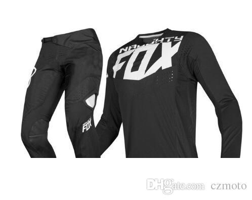 2019 NAUGHTY FOX MX 360 Kila Black Jersey Pants Motocross Motorcycle Dirt bike ATV MTB DH Racing Men's Gear Set