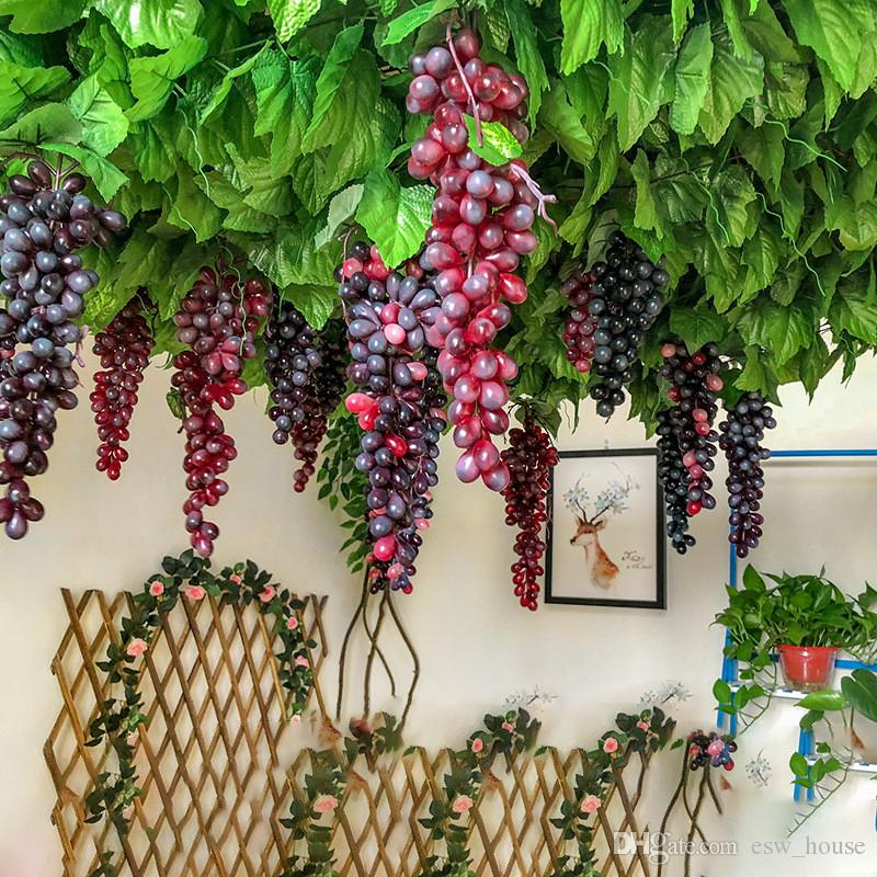 2021 Hanging Artificial Grapes Diy Fruits Plastic Fake Fruit For Home Garden Decoration Simulation Grape String From Esw House 1 03 Dhgate Com