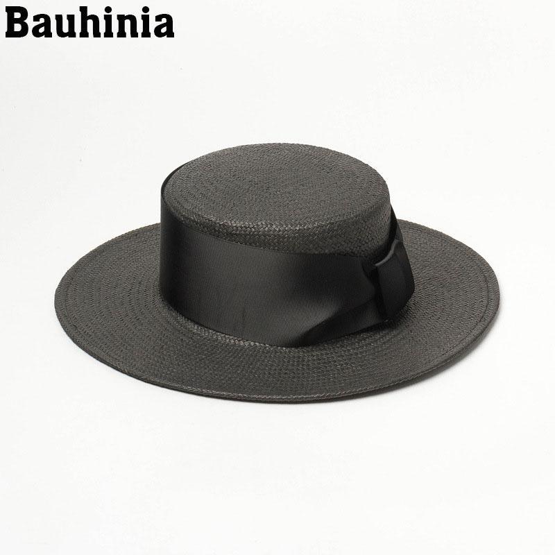 Bauhinia été chapeaux de soleil chapeau de soleil chapeau de paille mode arc chapeau casquette casual plage féminin