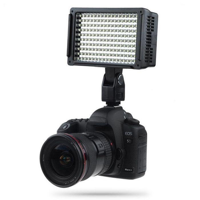 Lightdow Pro عالية الطاقة 160 الصمام ضوء الكاميرا كاميرا فيديو مصباح مع ثلاثة مرشحات 5600 كيلو ل DV كانون نيكون أوليمبوس كاميرات LD-160 BA