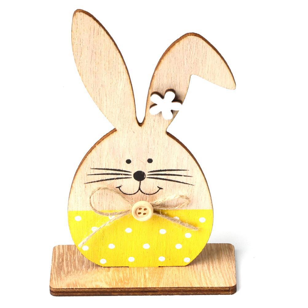 Деревянные формы кролика украшения пасхальные украшения новые ремесленные подарки украшения кролика домашнее событие партийные принадлежности DIY реквизит