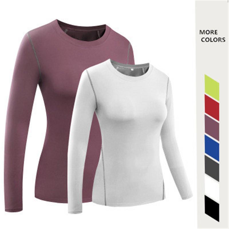 Nueva Yoga T Shirt para la Mujer Ropa de deporte camisa más del tamaño Deporte para chica de la yoga al aire libre ejercicio largo corredor Trajes Invierno llena larga Tops