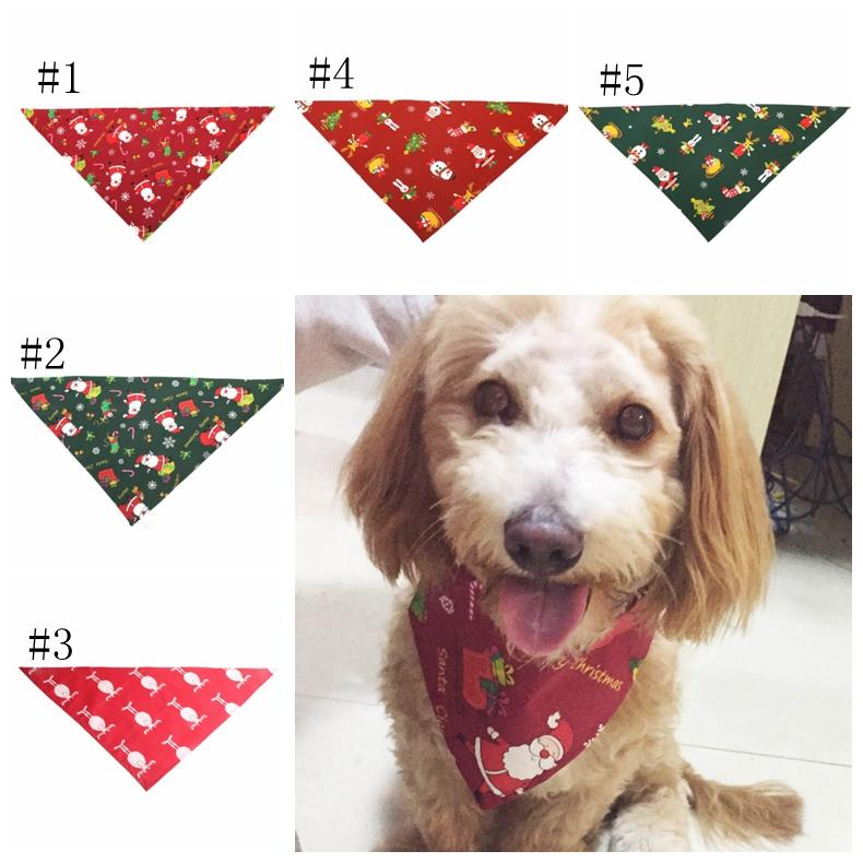 Navidad perro bandana triangular vendaje collares de perro bufanda de Navidad babero asequipando accesorios suministros para mascotas 5 diseños envío gratis dsl-yw1822