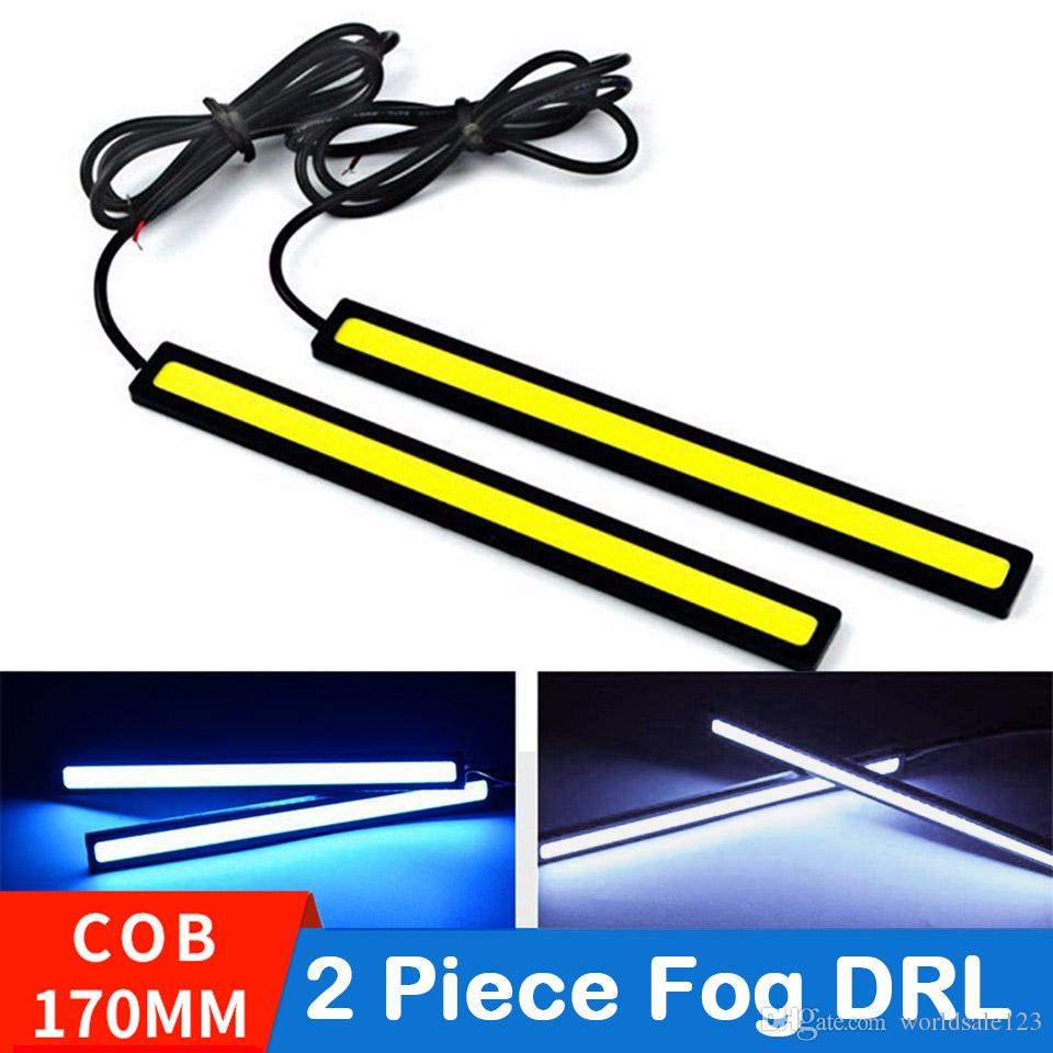 2pcs / Lot 17 centímetros Universal Daytime Running luz COB DRL LED Car Lamp luzes externas Auto Waterproof Car Styling Led DRL Lamp 170 milímetros