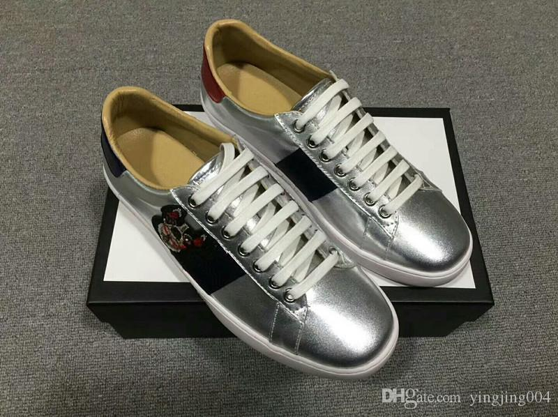 2019 Siyah Womens Chaussures Ayakkabı Platformu Casual Sneakers Tasarımcılar Ayakkabı Deri Katı Renkler Elbise Ayakkabı qh18041011