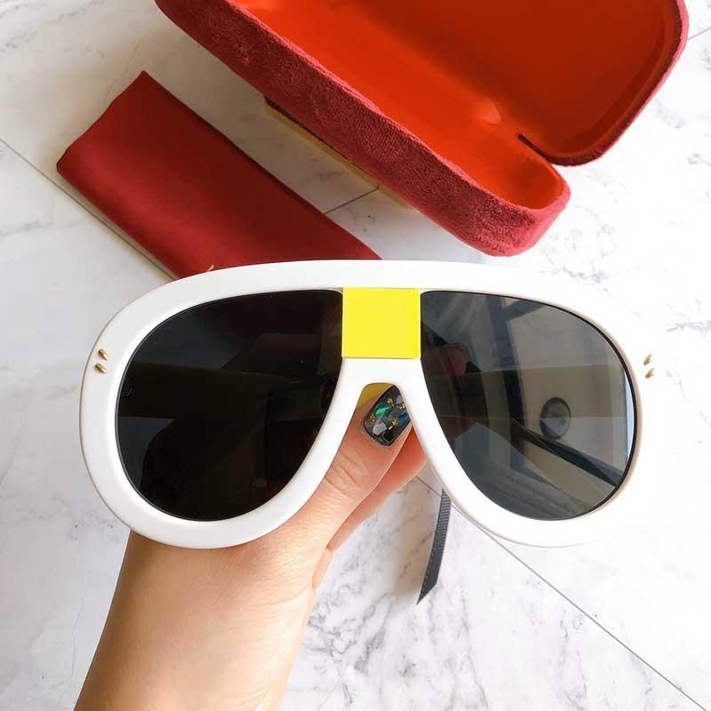 Kadınlar Için popüler satış tasarımcı güneş gözlüğü oval plaka tam çerçeve çalışma en kaliteli 0678 moda lady cömert tarzı uv400 lens GG0678S