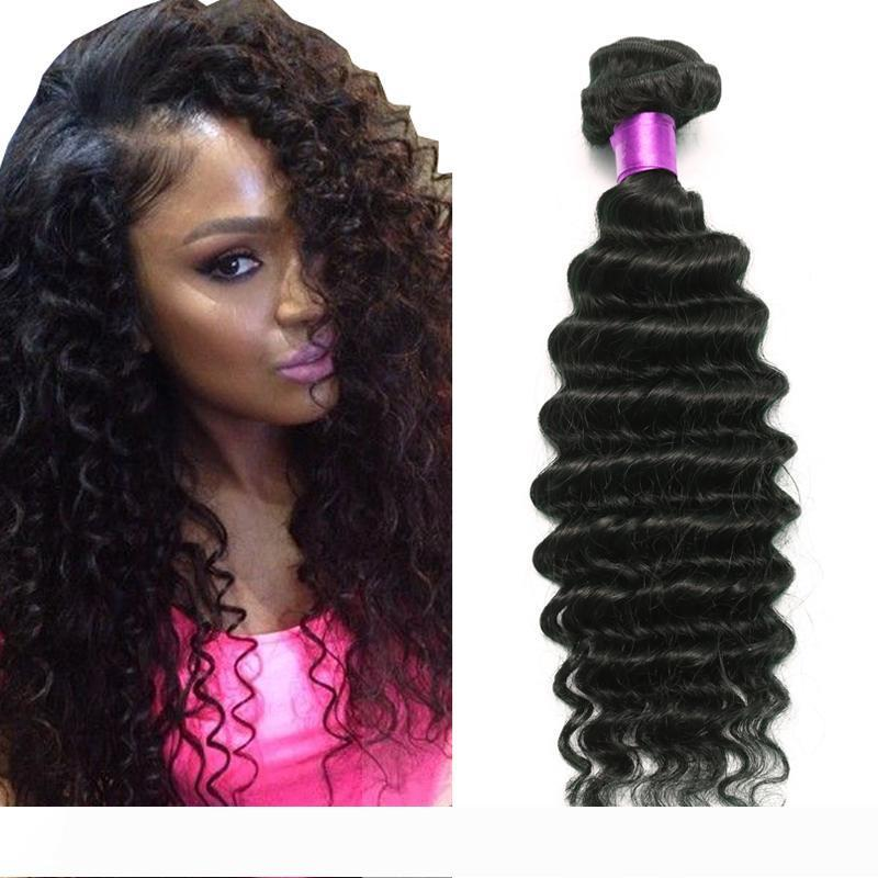 Brazilian Deep Wave Virgin Hair Brazilian Hair Bundles 4pcs lot100% Curly Virgin Hair Factory Selling Cheap Deep Wave Curly Weave Online