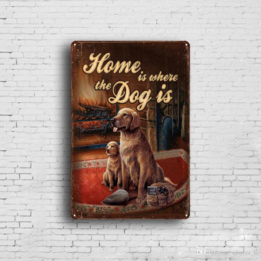 Hot Sale Poultry animals Dog Horse Retro Vintage Metal Tin sign poster Old Wall Metal Plaque Club Wall Home art metal Painting Wall Decor