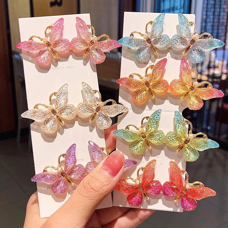 New Women Girls Cute Colorful Butterfly Hairpins Beautiful Hair Ornament Barrettes Headband Hair Clips Fashion Accessories